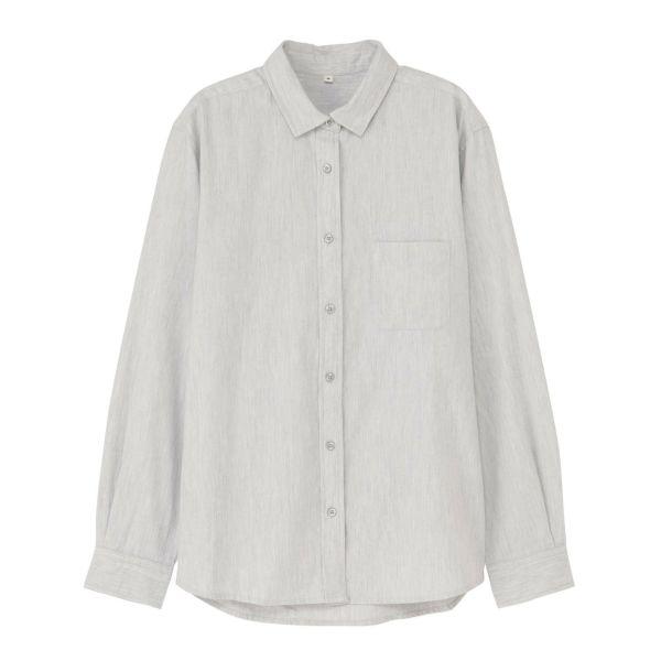 長袖ネルレギュラーカラーシャツ