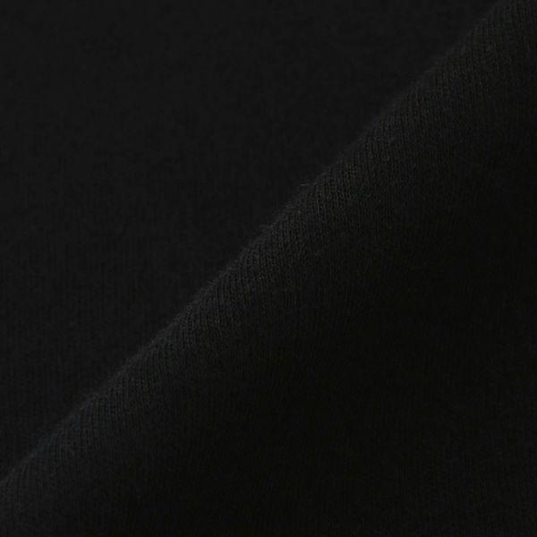 長袖スムース起毛VネックTシャツ