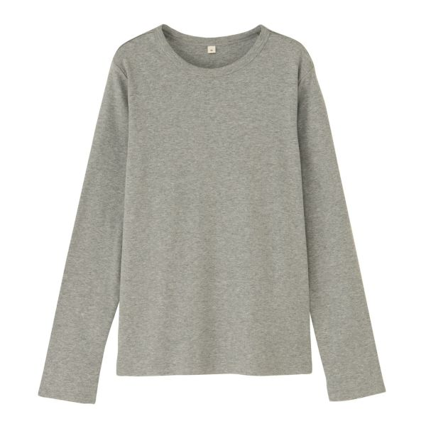 長袖起毛クルーネック(丸首) Tシャツ