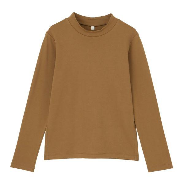 長袖起毛ハイネックTシャツ